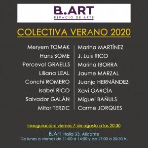 B.ART colectiva verano 2020 - invitación, Alicante - España