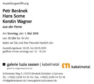 """Einladung zur Ausstellung """"aus der Ferne"""" Hans Some - Galerie Luzia Sassen, Germany, 2016"""